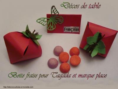 Deco table fraise